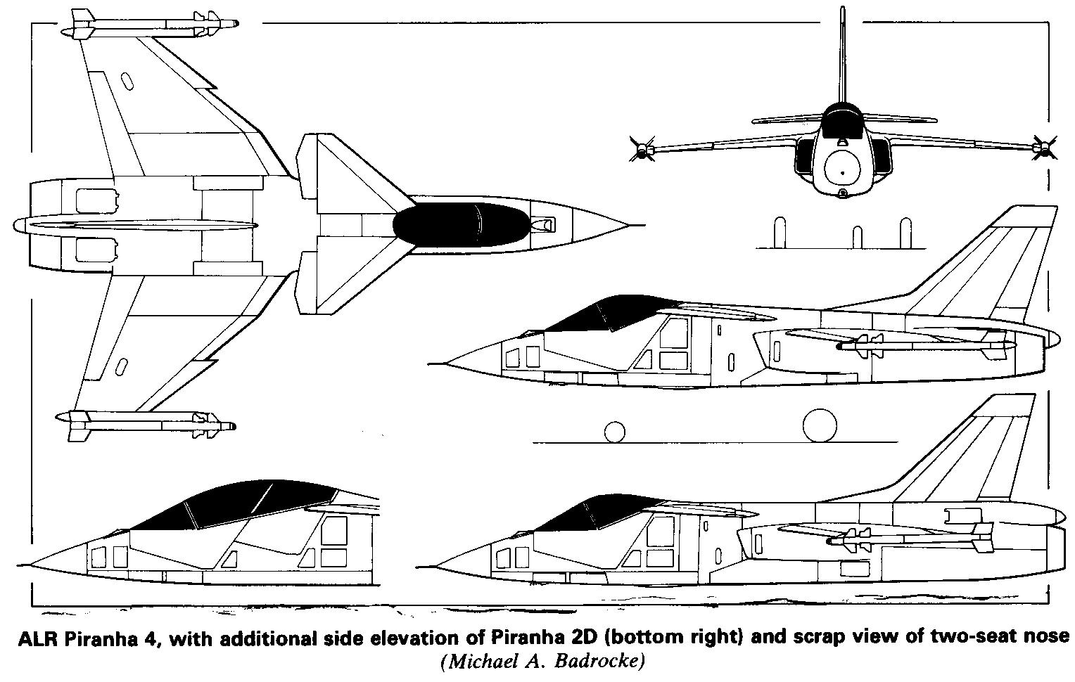 Piranha 6 was designed to meet the battlefield air superiority and